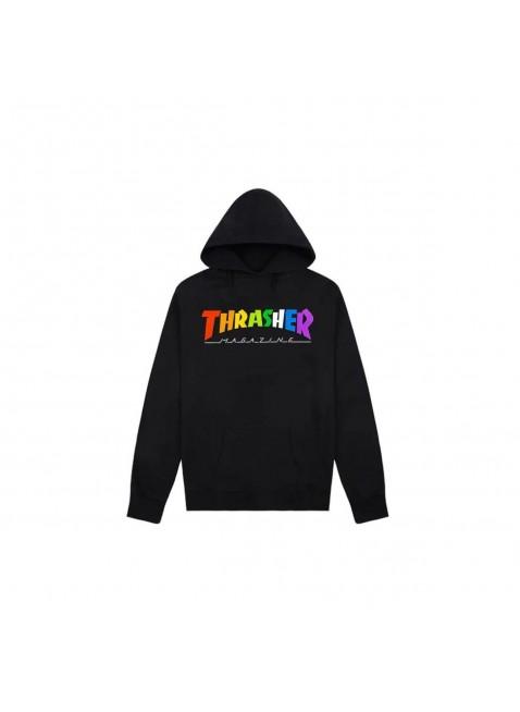 Mikina Thrasher Rainbow Black