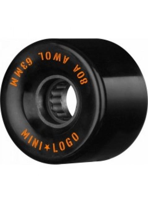 Kolečka Mini Logo A.W.O.L. Skateboard Wheels 63mm 80A Black 4pk