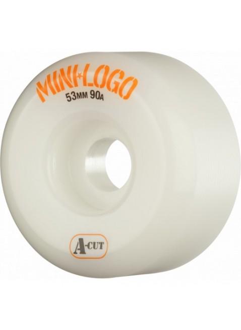 kolečka Mini Logo Skateboard Wheels A-cut 53mm 90A White 4pk
