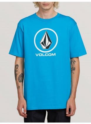 Triko Volcom Crisp Stone Short Sleeve Tee cyan blue