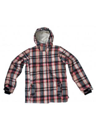 Roxy GLIDER black plad zimní bunda