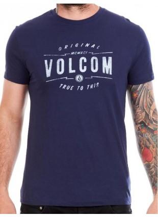 Triko Volcom Garage Club Indigo