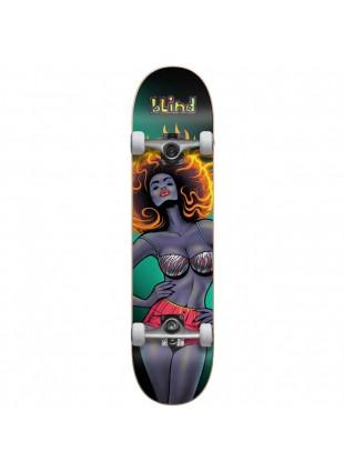 """komplet Skateboard BLIND Blacklight Girl FP Comp Black (BLK) 8"""""""