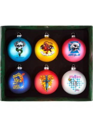 Vánoční ozdoby Bones Brigade 6ks