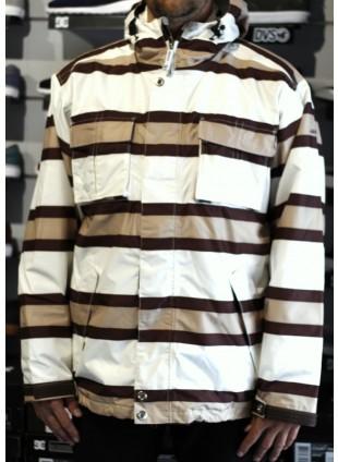 Snowboardová bunda Sessions Winker Stripe white khaki