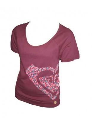 Dámské Triko Roxy HEART CORE burgundy