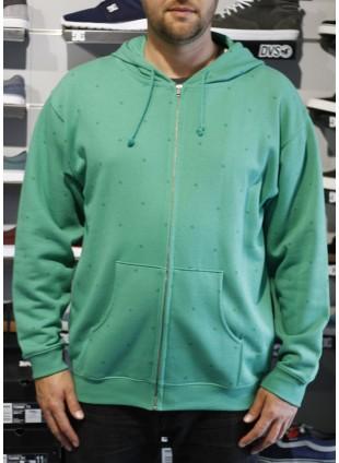 DC CORPADOT kelly green mikina s kapucí