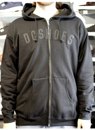 Mikina DC Braun zip hood black
