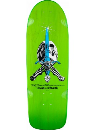 Deska Powell Peralta Rodriguez Skull and Sword OG Skateboard Deck Green - 10 x 30