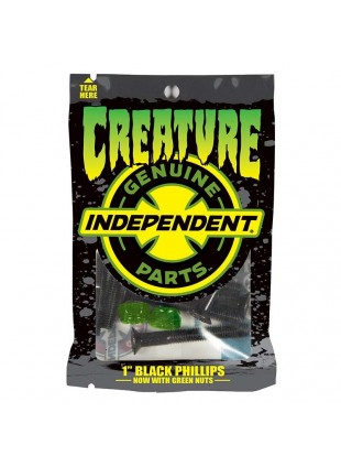šroubky CREATURE - Genuine Parts CSFU Phillips Hardware 1 in Black/Green