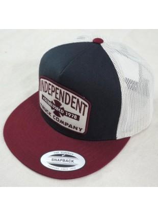 Kšiltovka Independent Garage Meshback Indigo/Oxblood