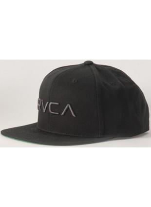 kšiltovka RVCA Rvca twill black/charcoal