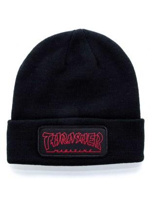 čepice Thrasher Logo Patch Beanie black