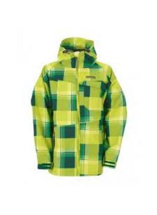Horsefeathers LINEAR KIDS green check dětská podzimní bunda