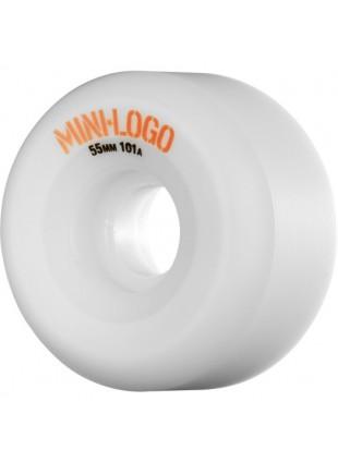 Mini Logo A-cut Wheel 55mm 101a White