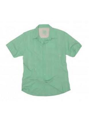 QUIKSILVER MONTAUK lt.green košile kr.rukáv