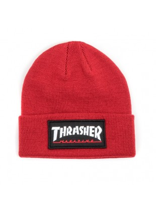 čepice Thrasher Logo Patch Beanie maroon