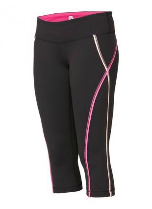 kalhoty Roxy Fitness EXCEL CAPRI black