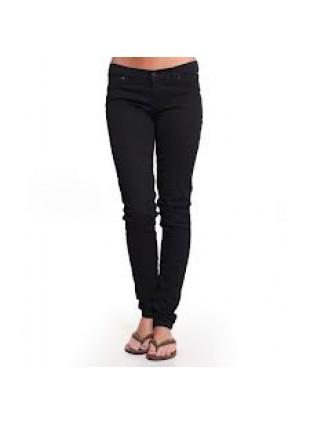 Roxy KASSIA flat black bootcut fit kalhoty