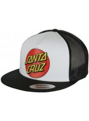 Kšiltovka Santa Cruz Classic Dot Cap white/black