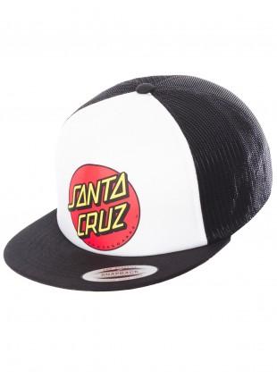 Kšiltovka Santa Cruz Classic Dot Cap white black