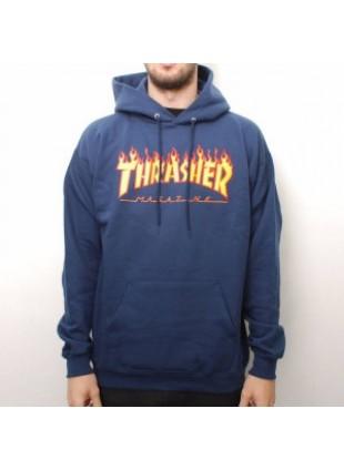 Mikina Thrasher Flame Hoody Navy Blue
