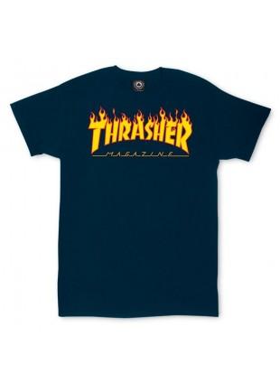 Triko Thrasher Flame Logo navy