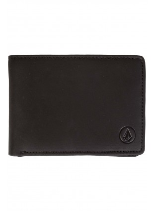 Peněženka Volcom Leather wallet black