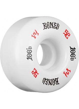 BONES WHEELS 100's #12 OG Formula 52x34 V4 Skateboard Wheel 100A 4pk