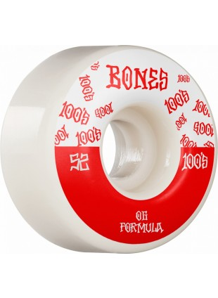 kolečka BONES Wheels 100´s #13 52MM OG FORMULA V4 WIDE White