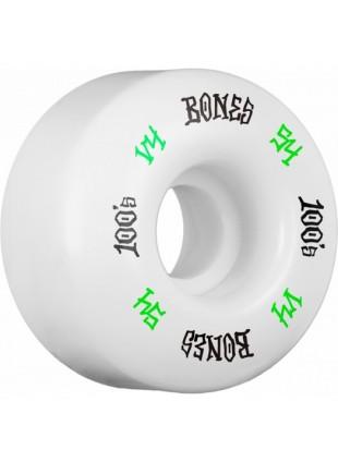 kolečka BONES WHEELS 100 Skateboard Wheels V4 Wide 100A 4pk 54mm