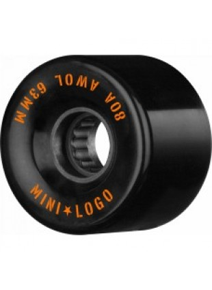 Kolečka Mini Logo A.W.O.L. Skateboard Wheels 63mm 80A Black 4pk