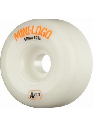 kolečka Mini Logo Skateboard Wheels A-cut 58mm 101A White 4pk