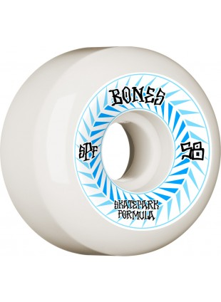 kolečka BONES WHEELS SPF Skateboard Wheels Spines 58mm P5 Sidecut 84B 4pk White