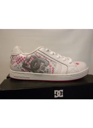 44dff587b9c DC Y´S NET SE white crazy pink skate boty