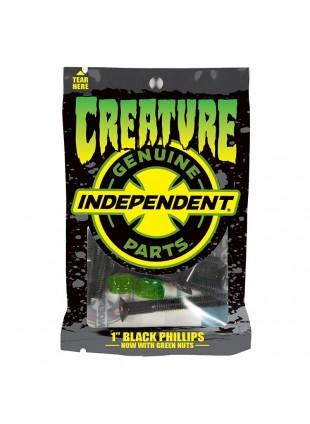 šroubky CREATURE - Genuine Parts CSFU Phillips Hardware 1 in Black/Green