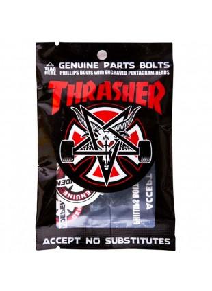 šroubky INDEPENDENT - Genuine Parts Thrasher Bolts Phillips Hardware Black/Silver Bx=12 Pks/8
