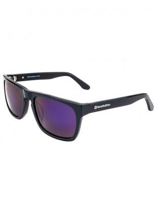 Brýle Horsefeathers Keaton sunglasses gloss black/mirror blue