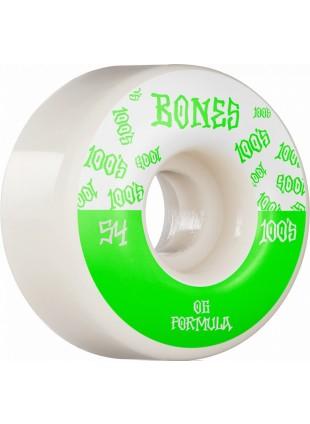 kolečka BONES Wheels 100´s #13 54MM OG FORMULA V4 WIDE White