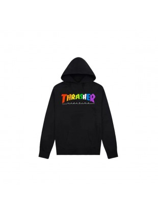 Mikina Thrasher Rainbow Black