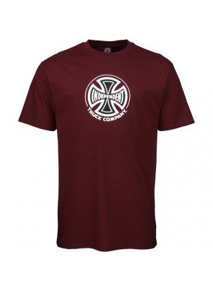 triko INDEPENDENT - Truck Co T-Shirt Burgundy (BURGUNDY)