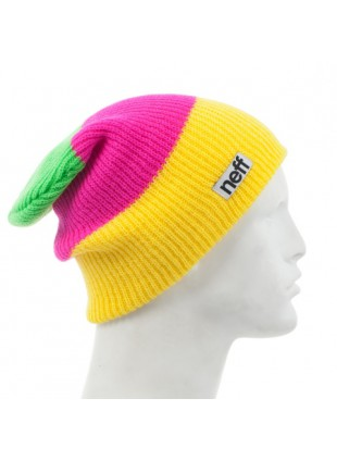 čepice Neff Trio yellow/magenta/lime