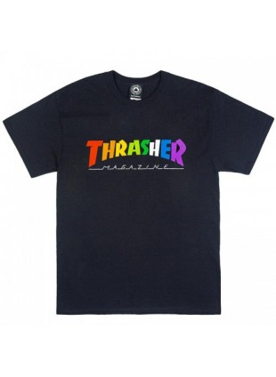 Triko Thrasher Rainbow Black